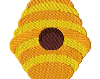 Bee Hive Machine Embroidery Design - Instant Download