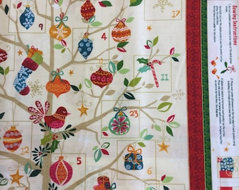 Makeower 1265 Present Tree Up Advent 100% Cotton Fabric by the 60 cm panel