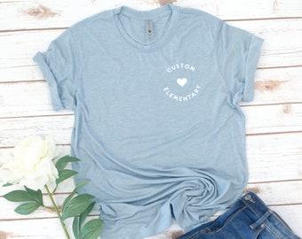 Custom School Shirt, Teacher, Elementary, High School, Middle school, Teacher Appreciation, Thank you, Women's shirt, gift for teacher