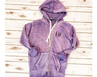 SALE Kappa Alpha Theta Zip Fleece, Sweatshirt, Theta