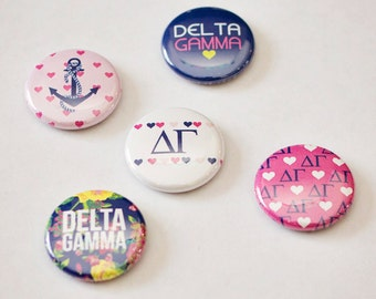 "Delta Gamma 1"" Buttons"