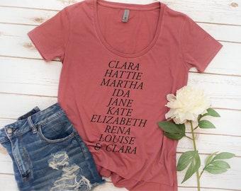 Alpha Phi Shirt, Founders, Alpha Phi, Alumnae, Sorority Shirt, Womens shirt, APHI