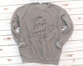 Christian Sweatshirt, Jesus, Fleece, Made New, Bible Shirt, Verse Shirt, Bible Verse, Love