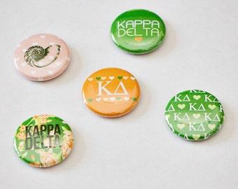 "Kappa Delta 1"" Buttons"