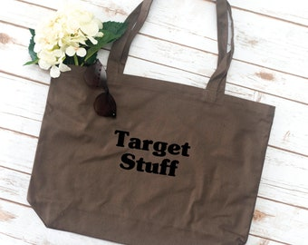 Target Tote, Mom Tote, sorority bag, tote bag, Gift for Mom, Mother's Day gift, Grocery Bag