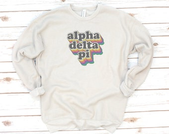 Sorority Sweatshirt, Retro, Vintage, Sorority gift, Sorority shirts, Big Little Reveal, Delta Zeta, Zeta Tau Alpha, Fleece, Vintage