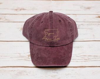 Sorority Gift, Sorority Hat, Sigma Alpha Iota Hat, Dad Hat, Sorority Baseball Hat, Baseball Hat, Sigma Alpha Iota
