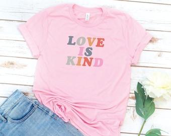 Love shirt, Love, Love is Kind, Love Wins, Love is Patient, Retro, 70s, Vintage, Womens shirt