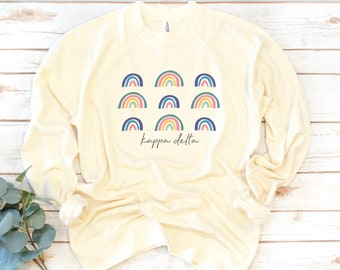 Sorority Sweatshirt, Rainbow, French Terry sweatshirt, Sorority shirts, Alpha Omicron Pi, Phi Sigma Sigma, Kappa Kappa Gamma, Alpha Phi