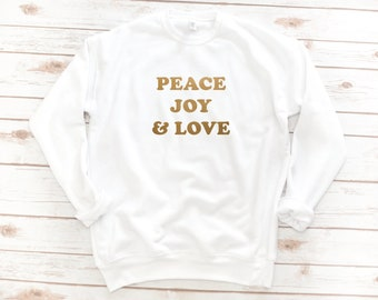 Christian Sweatshirt, PEACE, Jesus, Fleece, Christmas Gift, Bible Shirt, Long sleeve, Bible Verse, Christian Gift, Christmas sweatshirt