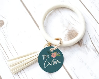 Teacher Bride Keychain, Custom gift, personalized, Christian Keychain, Charm, Birthday gift, gift for Women, Bachelorette party gift