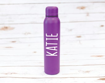 Personalized Water Bottle, 17 oz Water Bottle, Sports bottle, Stainless Steel, Bachelorette Party, Bride, Sorority, Teacher, Gift