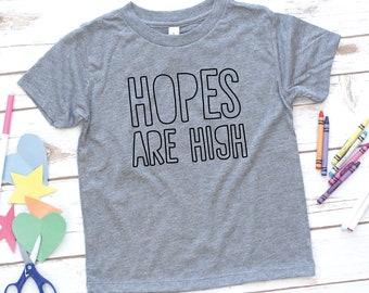 Hopes are high, Christian Kids Shirt, Boys shirt, Girls shirt, Youth, Toddler Shirt, Kids birthday gift, Jesus Shirt, Bible verse