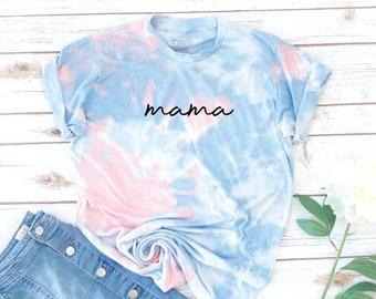 Mama Shirt, Tie Dye, Mom shirt, Women's T-Shirt, Gift for Mom, Vintage, Gift for Mom, Gift for Women, Tie Dye