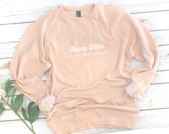 Sorority Sweatshirt, Sorority Year, French Terry, Sorority gift, Sorority shirts, Big Little, Kappa Beta Gamma, Alpha Xi Delta, Kappa Delta