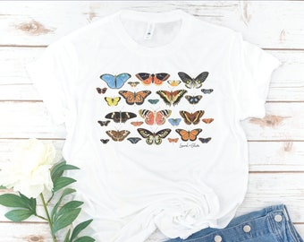 Butterfly Shirt, Women's T-Shirt, Vintage, Gift for Mom, Birthday Gift, Gift for Woman, Mother's Day Gift