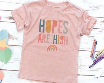 KIDS, Hopes are High, Christian Kids Shirt, Boys shirt, Girls shirt, Youth, Toddler Shirt, Kids birthday gift, Jesus Shirt, Bible verse