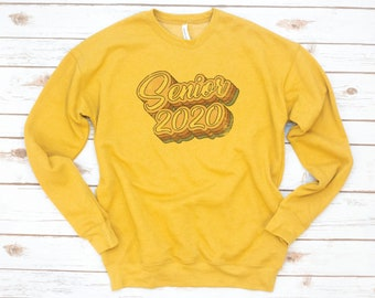 Senior Class sweatshirt, Senior fleece, Class of 2020, High School Senior Sweatshirt, College, Seniors 2020, Graduation gift, Vintage, Retro