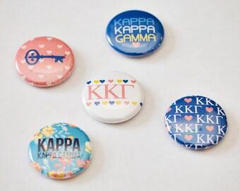 """Kappa Kappa Gamma 1"""" Buttons"""