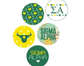 "Sigma Alpha 1"" Buttons"