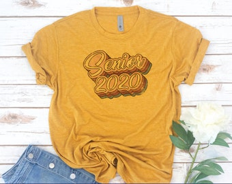 Senior Class shirt, Senior shirt, Class of 2020, High School Senior, College Senior, Seniors 2019, Seniors 2020, Graduation, Vintage, Retro