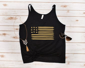 American Flag Tank, American, Flag, USA, USA shirt, Fourth of July, United States, Patriotic