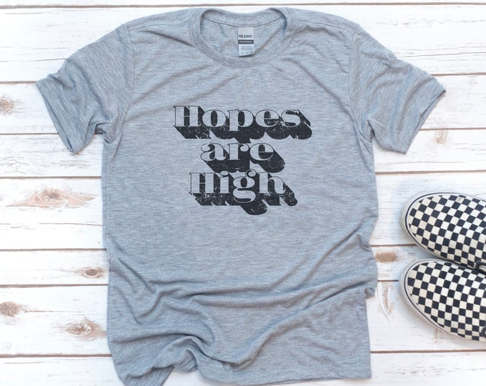 Featured listing image: Christian Men, Hopes are High, Gift for Christian, Men's Shirt, Gift for Dad, Gift for men, Christian Shirt, Jesus, Easter, Christmas Gift