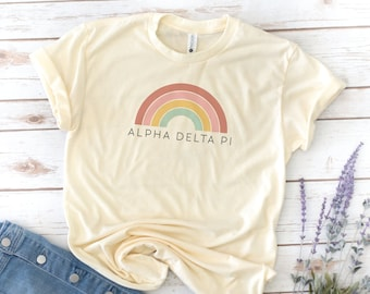 Retro Sorority, Vintage, Sorority, Gamma Phi, Tri Delta, Phi Sigma Sigma, Alpha Xi Delta, Recruitment, Big little shirts, Delta Sigma Pi