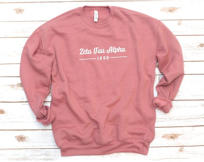 Featured listing image: Sorority Sweatshirt, Crew Fleece, Retro, Vintage, Sorority gift, Sorority shirts, Alpha Xi Delta, Sigma Alpha, Tri Sigma, Delta Phi Epsilon