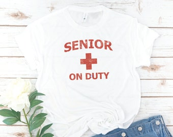 Senior shirt, Class of 2020, Senior class, Sorority Senior, College, High School Senior, Senior on Duty, Seniors 2020, Vintage, Retro
