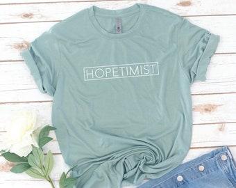 Women's HOPETIMIST, Christian Shirt, Jesus, Christian Gift, Hallelujah, Grace upon Grace, Bible, Gift for women, birthday gift, Easter