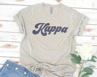 Retro Shirt, Sorority, 70s Script, Vintage, Theta, Kappa, Big Little Shirts