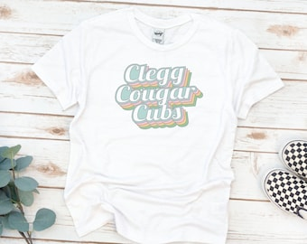 YOUTH Shirt, Clegg Kids Tee, Rainbow Outline
