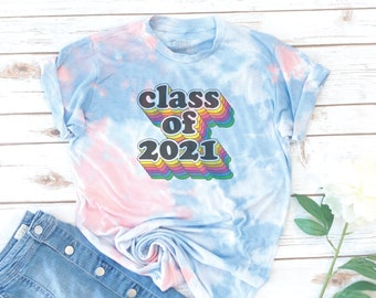 Senior Tie Dye shirt, Class of 2021, High School Senior, Seniors 2021, Graduation, Retro, College shirt, ASB shirt, Associated Student Body