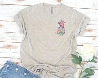Island Warrior, Pineapple Shirt, left chest