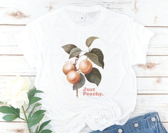 Just Peachy Shirt, Women's T-Shirt, Vintage, Peachy, Peach, Gift for Mom, Birthday Gift, Gift for Woman, Mother's Day Gift