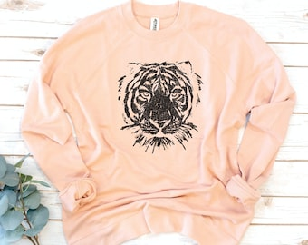 Tiger Sweatshirt, Take it Easy, Easy Tiger, French Terry sweatshirt
