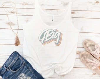 Big and Little Tank, Sorority, Reveal, Big Sis, Little Sis, GBig, GLittle, Retro, Vintage