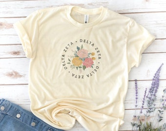 Sorority Flower Shirt, Vintage, Phi Mu, Sigma Sigma Sigma, Kappa Kappa Gamma, Delta Zeta, Alpha Xi Delta, Sigma Alpha Iota