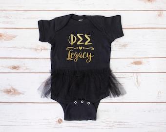Phi Sigma Sigma Legacy Infant Bodysuit, Sorority Legacy, Phi Sig Legacy