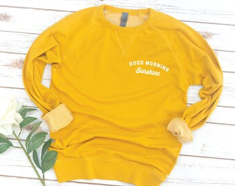 Sunshine Long Sleeve, French Terry, graphic tee, Women's Sweatshirt, Long Sleeve, birthday gift, gift for friend, French Terry, Vintage