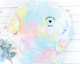 Tie Dye Sorority Sweatshirt, Vintage, Sorority gift, Big Little Reveal, Sigma Alpha, Alpha Xi Delta, Tie Dye Fleece