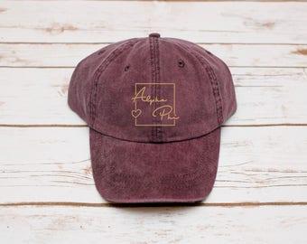 Sorority Gift, Hat, Alpha Phi Hat, Dad Hat, Sorority Baseball Hat, Baseball Hat, Alpha Phi