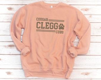 ADULT Fleece, Clegg, Unisex, Paw Stripes