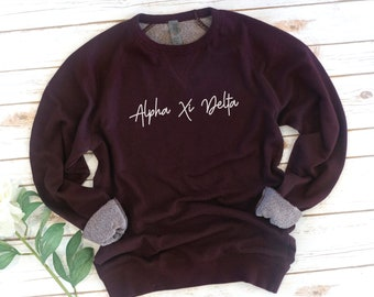 Sorority French Terry  Sweatshirt, Vintage, Sorority gift, Sorority shirts, Big Little Reveal, Phi Sigma Sigma, Alpha Xi Delta, Kappa Delta