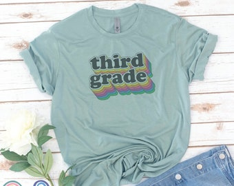 Teacher Shirt, First Grade crew, Teacher gift, Teacher Appreciation, Second, Fourth, Fifth, Kindergarten, Women's shirt, gift for teacher