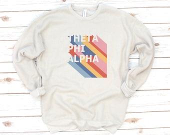 Retro Sorority Sweatshirt, Vintage, Sorority gift, Sorority shirts, Big Little Reveal, Theta Phi Alpha, Gamma Sigma Sigma, Alpha Gamma Delta