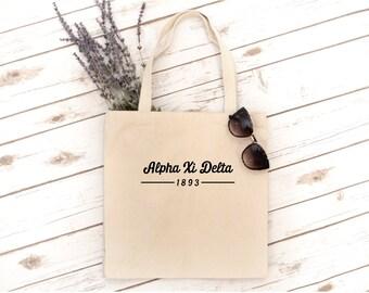 FINAL SALE Sorority Tote, Sorority Gift, sorority bag, tote bag, Sigma Alpha, Phi Sigma Sigma, Sigma Alpha Iota, Alpha Xi Delta