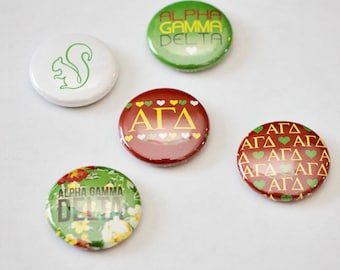 "Alpha Gamma Delta 1"" Buttons"