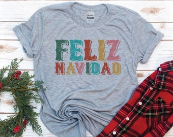 Feliz Navidad, Women's Christmas Shirt, Merry Christmas, Women's shirt, Holiday, Gift for Women, Gift for Mom, Christmas Gift, Christian